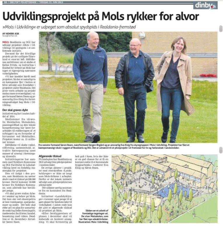Udviklingsprojekt på Mols rykker for alvor - 23-06-2015